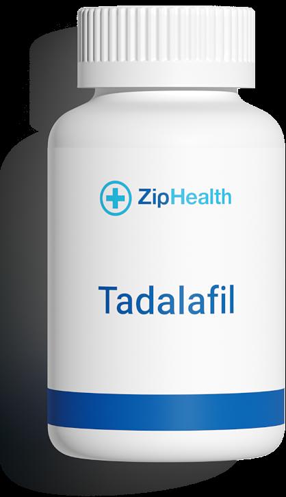 tadalafil erectile dysfunction medication bottle